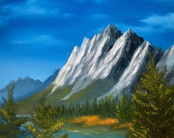 Majestic mountains - Original oil painting