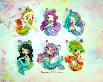 Polymerclay mermaid / clay chibis / kawaii dolls / fimo chibis