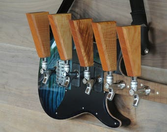 Beer Tap Handle made from upcycled guitar bits