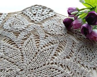 Beige Crochet doily,Crochet doilies,lace doily,Table decoration,napkin,crochet coasters, doily, crochet pattern,lace doily, cotton doily