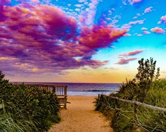 Framed A4 Beachscape Print