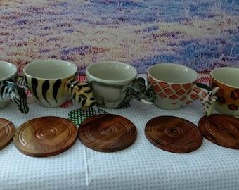 Animal Espresso cup, Porcelain Coffee cup