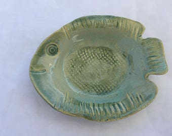 Pottery Glazed Fish Dish