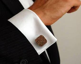 Adamello wooden cuff links