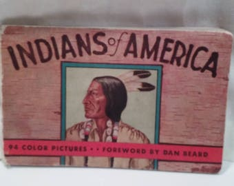 Vintage Indians Of America Picture Book