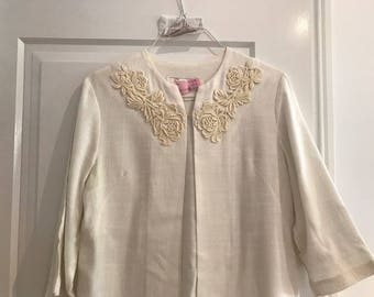 Vintage 1920s white light overcoat