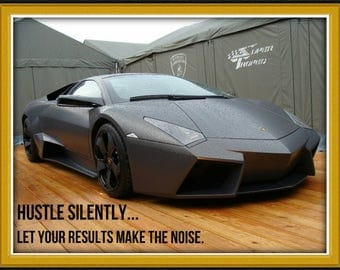 Hustle Silently... Let Your Results Make The Noise Printable Poster, Instant Download