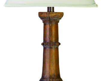 Brown rustic lamp