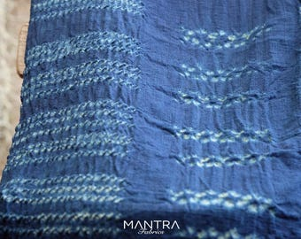 014 - Natural Hand Dyed Indigo Shibori Fabrics by Bio Method