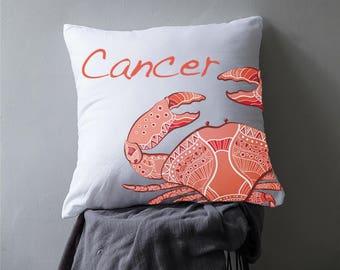 Cancer Zodiac Tribal Crab Pillow Case or Pillow