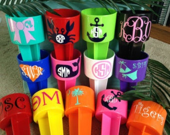 Monogrammed and Personalized Spiker Drink Holder