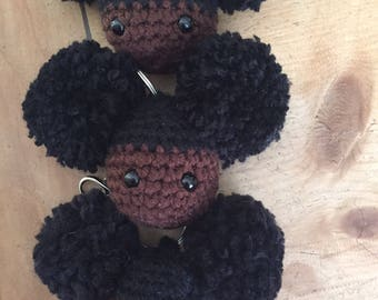 Afro Puff Key Chain/Purse Charm