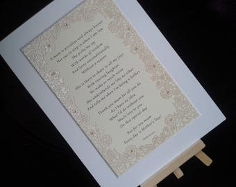 Luxury, Pearl embellished Mother's Day  Poem Card