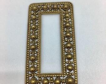 Small ornate brass frame