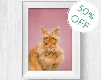 woodland bunny print, rabbit art printable, baby rabbit print, wall print bunny, rabbit printable art, baby bunny print, Nursery rabbit art