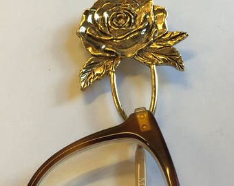 Unusual Rose Spectacle - Glasses holder brooch