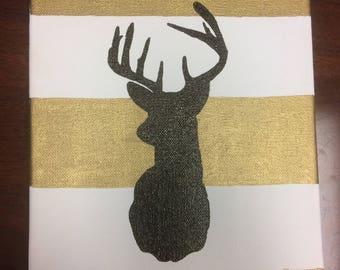 Deer Silhouette Wall Hanging