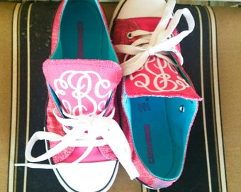 Monogrammed Shoes - Tennis Shoes - Personalized Shoes - Embroidered Shoes - Monogrammed Gift - Kids Shoes - Women' Shoes - Initial Shoes