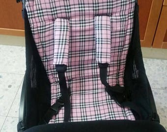 seat stroller liner with strap, stroller pad, pram strap covers, Bugaboo seat, baby carriers&wraps, stroller seat liner, Babyzen Yoyo, pink