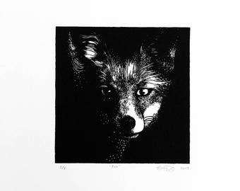 Fox (2017) - Linocut Print - Limited Edition