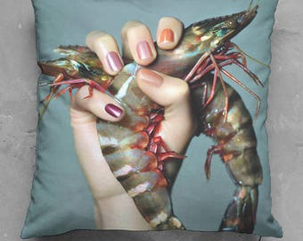 Custom made cushion seafood