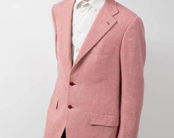 Mens Sports Jacket Blazer / Vintage Large Sartoria Caprese Pink Jacket