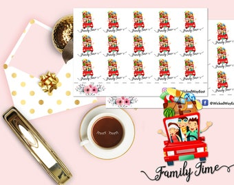 Family Time Planner Sticker, Family Date Night Sticker, Family Vacation Sticker, Family Fun Time, Scrapbook Sticker, Planner Accessory
