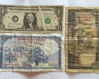LOT: Obsolete and rare currency