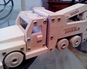 Tonka Wooden tow truck.