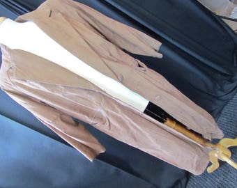 Leather Duster, small/med, Paris Sport Club, 80s. brown leather, steampunk, apocalypse, cowboy, costume AS IS, retro, brown leather, 18/86