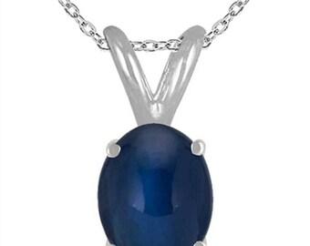 0.45Ct Oval Sapphire Pendant