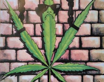 Free the weed, legalise cannabis! Marijuana Hanf Dope Weed Ganja Plakat/Poster