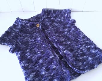 Toddler Vest with Cable Details Size 2 - 3 Years
