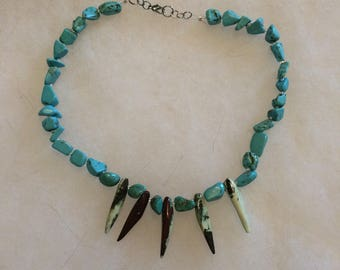 Blue turquoise with green coral