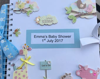 Baby shower guest book.