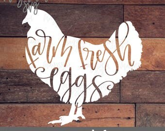 Farmhouse svg, Farm Fresh Eggs svg, Chicken svg, Farm House Decor svg, Kitchen Decor svg, Flour Sack Towel svg, Chicken Farming svg, Egg svg