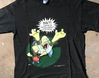 Vintage 90s Simpsons Alien Shirt, size XL