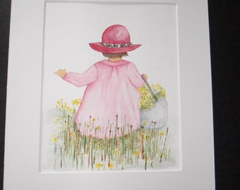 watercolor, painting, home decor, kids room