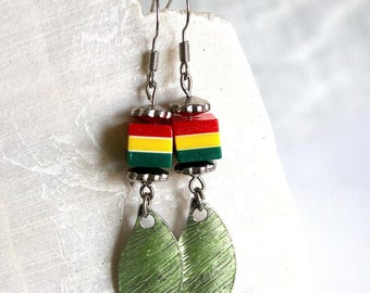 Jamaica earrings petals and cubes