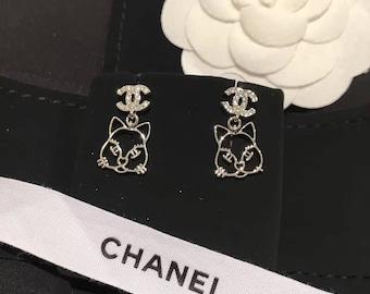 Cute Cat earrings 925silver
