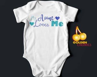 Aunt Onesie Various Colours Available / Bodysuit  / Romper / T-shirt Great Gift Idea