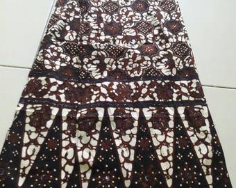 Batik Scarf - stamped Batik
