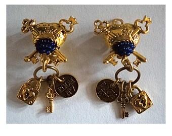 Vintage Earrings. Chantal Thomass Earrings; Chantal Thomass earrings; Collectibles; made in France; french Designer; Gift for her.