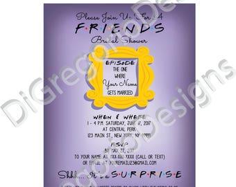 Friends Bridal Shower Invitations