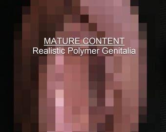 Medium/Black/Button Realistic Vagina