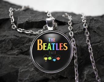 Beatles Glass Pendant beatles necklace the beatles jewelry beatles gift music pendant photo pendant art pendant photo jewelry glass jewelry