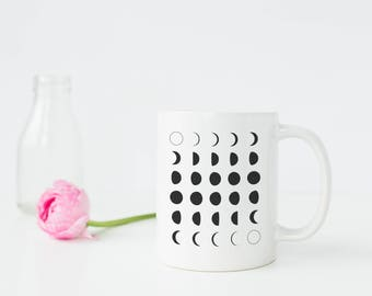 Moon Phase Coffee Mug - Moon Phase Mug - Moon Mug - Moon Coffee Mug - Gift for her - Moon gift