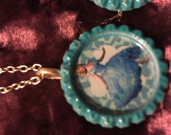 Cinderella bottle cap necklace