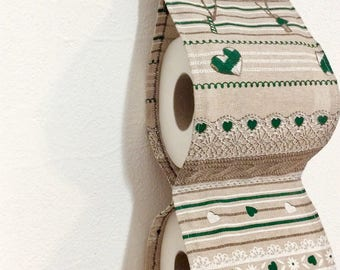 Green House/Fabric Decorative toilet paper/door roll/House decoration