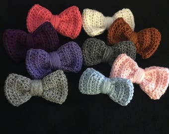 Crochet Hair Bows, Hair Clip and Crochet Pin